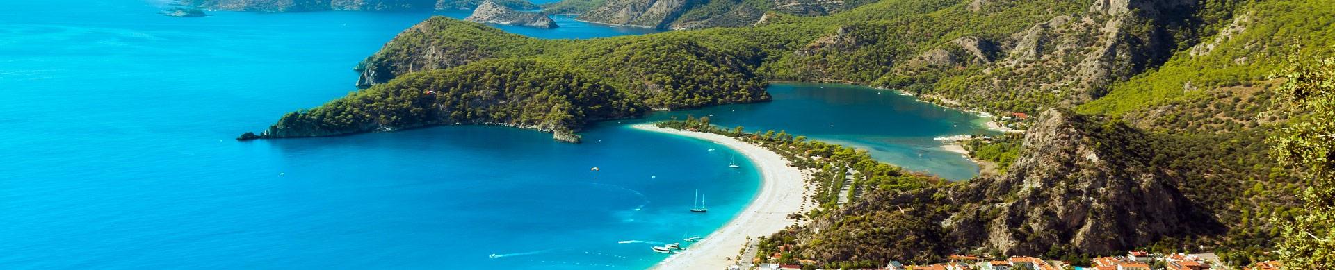 Oludeniz luchthaven taxi transfer van-naar vakantie hotel vliegveld transfers Antalya Luchthaven vakantiereizen Turkije